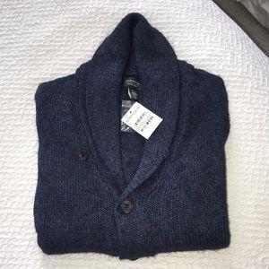 NWT Nordstrom Men's Navy Cardigan Sweater